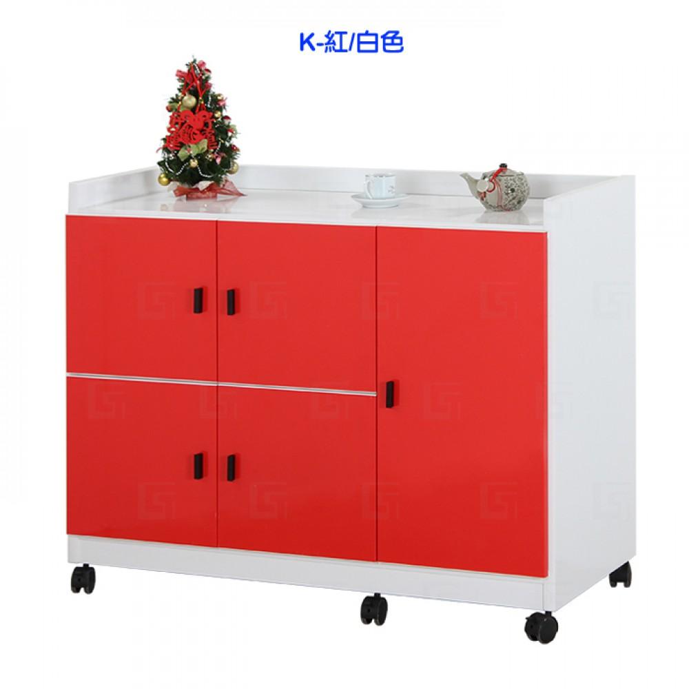塑鋼防水五門活動置物櫃(CT-579)