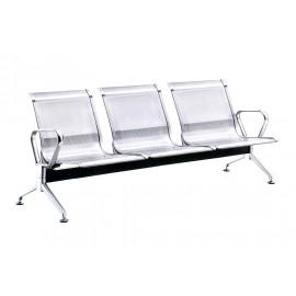 不鏽鋼網面公共排椅(二人/三人/四人)