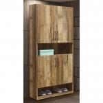 雀巢2.7X6尺厚切木紋高鞋櫃