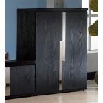 艾克2.7尺黑色二門鞋櫃