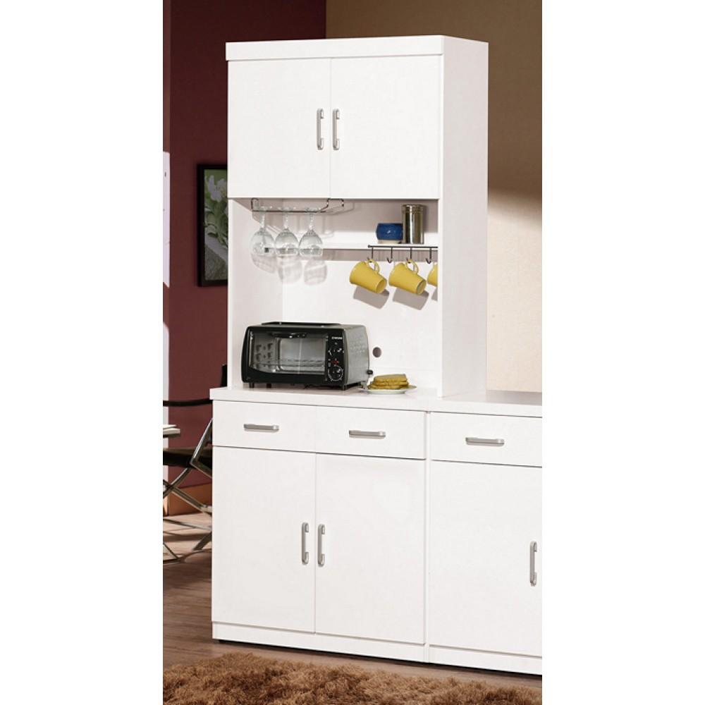 祖迪白色2.7尺雙門餐櫃