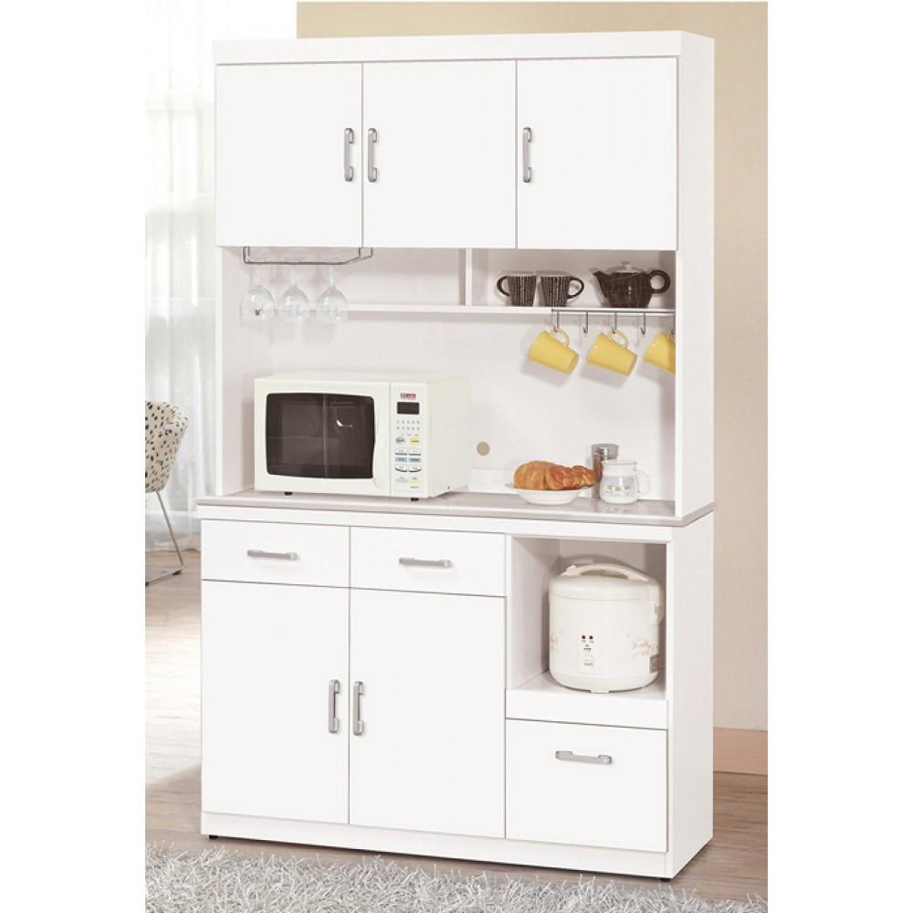祖迪白色4尺石面餐櫃