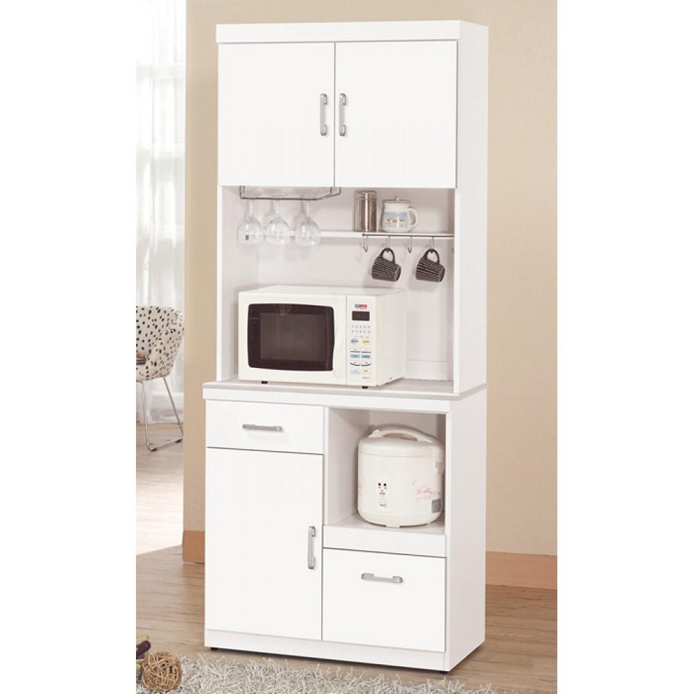 祖迪白色2.7尺石面單門餐櫃