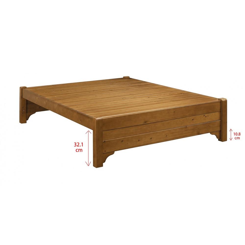雅歌樟木色實木床底(5尺/6尺)