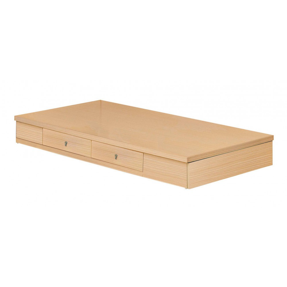 白橡木色3.5尺雙抽屜床底