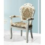 637白色新古典扶手洽談休閒椅