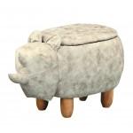 犀牛造型可置物動物椅凳