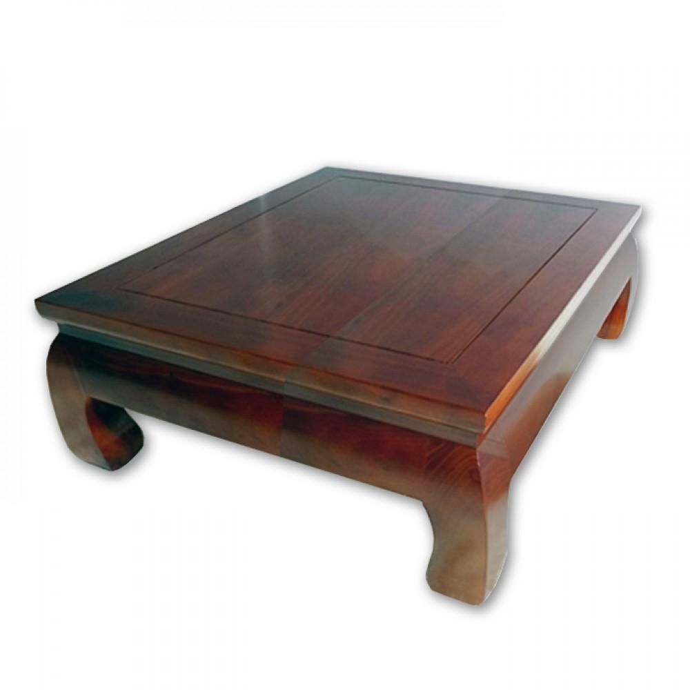 80x80cm榆木實木和室桌(紅木色/原木色)