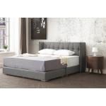 安德魯深灰色布面6尺加大雙人床