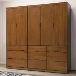 凱西柚木色7尺組合衣櫥