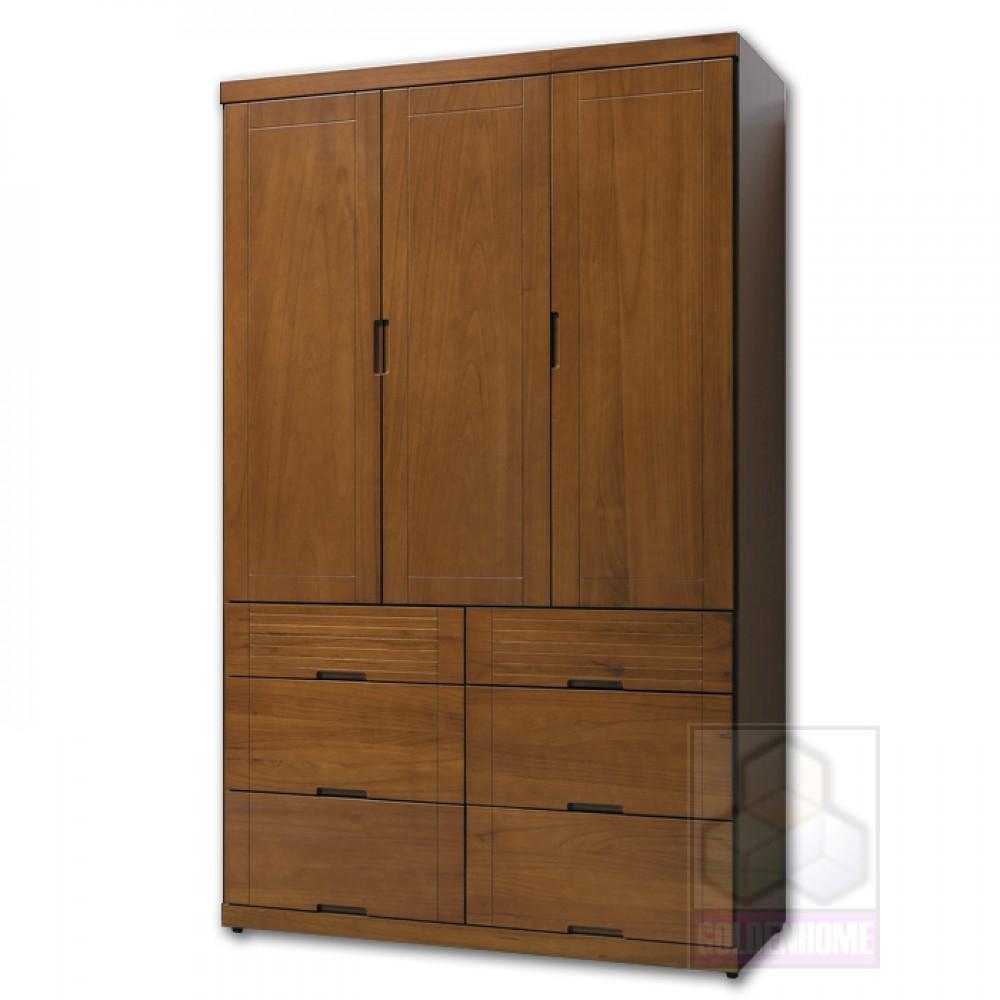 凱西柚木色4X7尺衣櫥