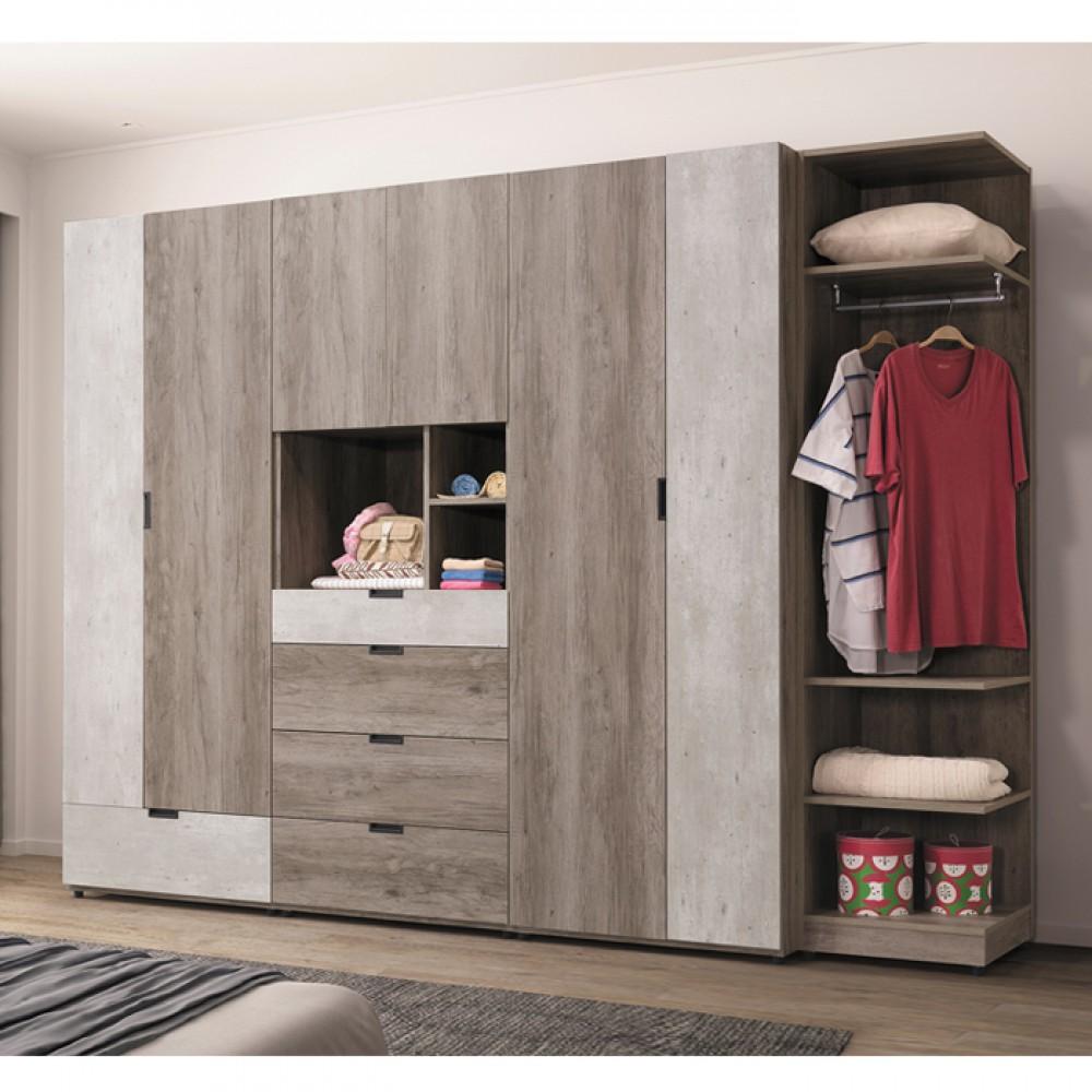 布爾9尺系統式衣櫥