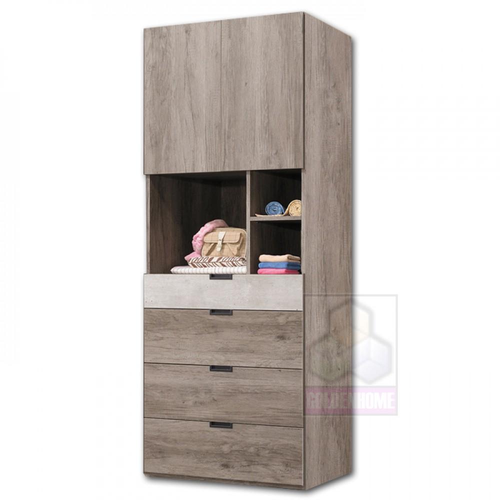布爾2.5尺四抽衣櫥