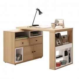 佩芮4尺伸縮功能桌(古橡木色/原木色)