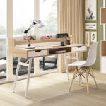 羅傑4尺置物書桌(白色/黑色)