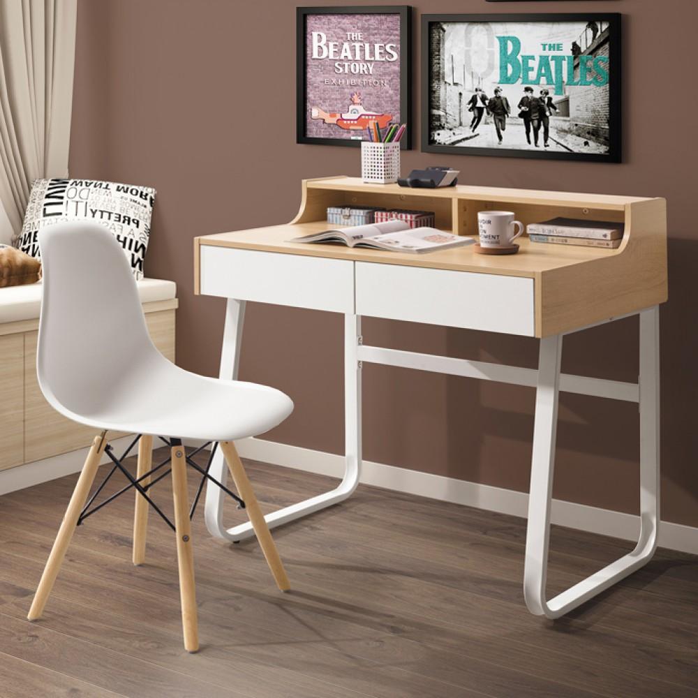提米3尺書桌(白色/黑色)