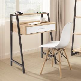 湯米2.2尺書桌(白色/黑色)