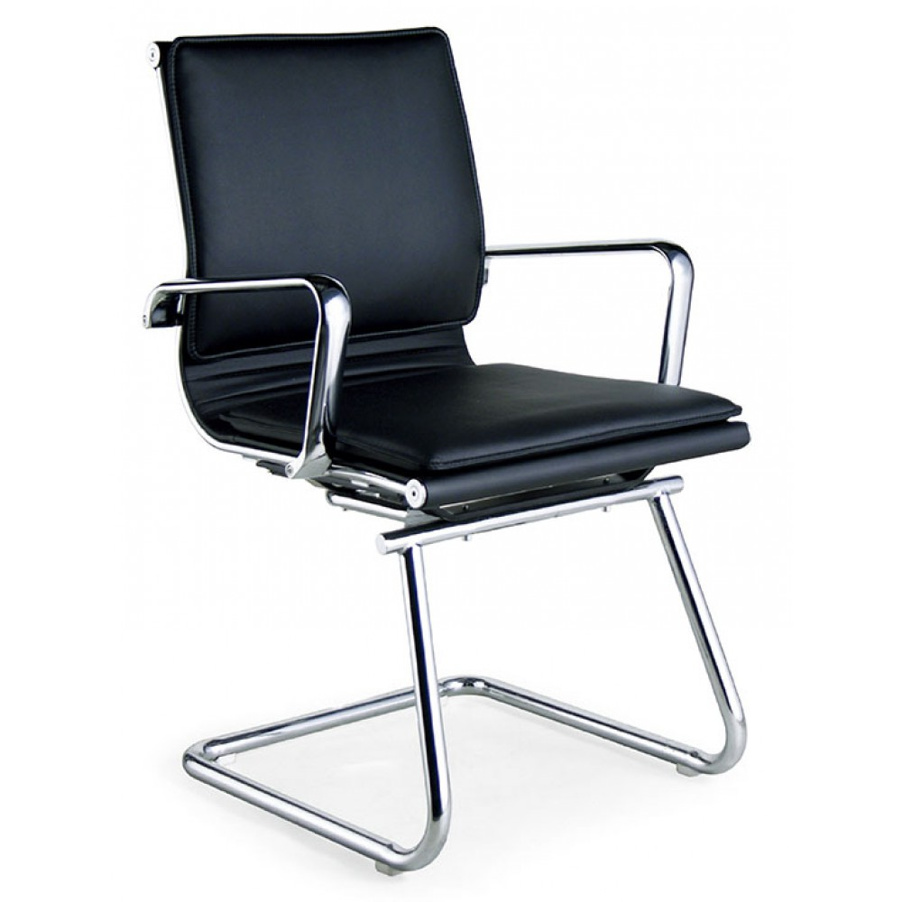 透氣皮ㄈ型腳會議辦公椅