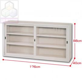 直角框玻璃櫃6尺(上座有中隔)