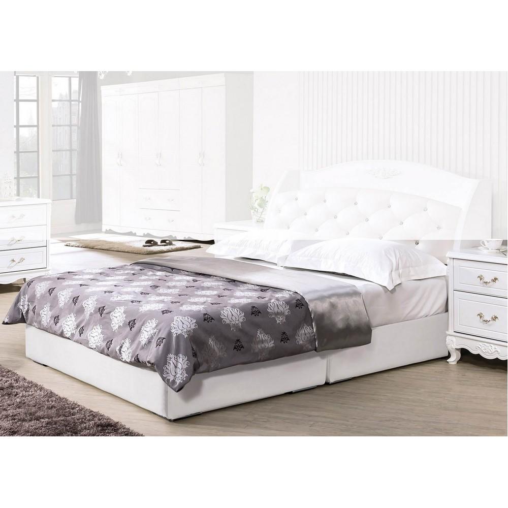 白色5尺皮革厚床底