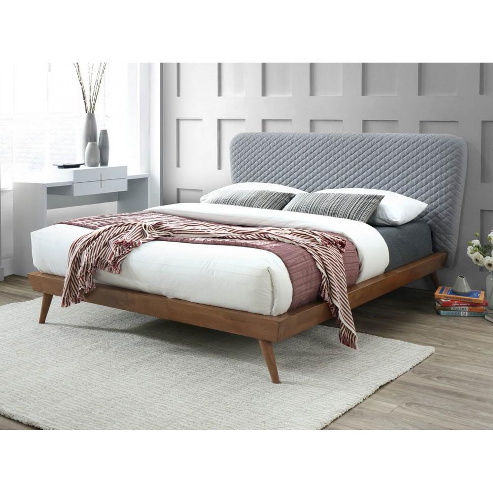 達利5尺灰布雙人床