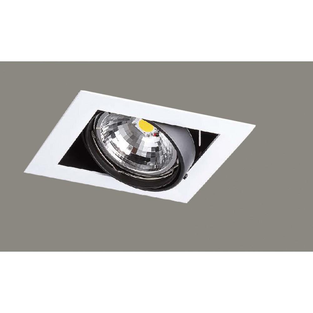#1228燈杯可調角度式LED單盞方型嵌燈