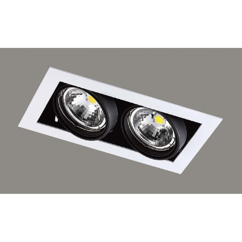 #1229燈杯可調角度式LED双盞方型嵌燈