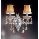 #5422壁掛式雙盞布燈罩水晶燈
