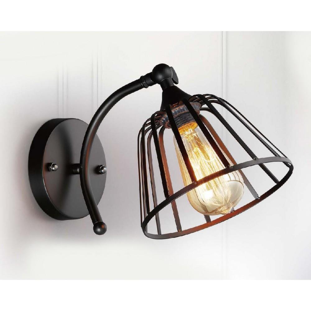 #8923工業風黑色單盞式壁燈