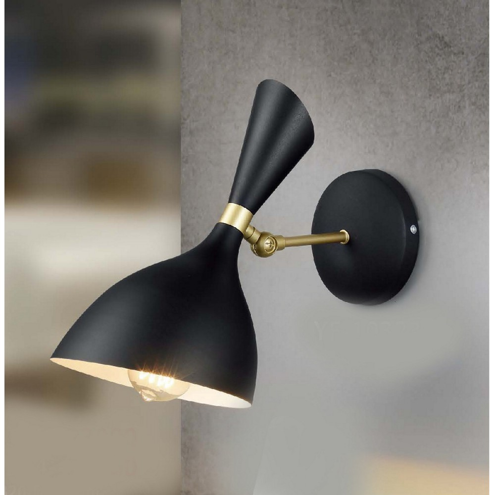 #10323現代風黑色單盞式壁燈